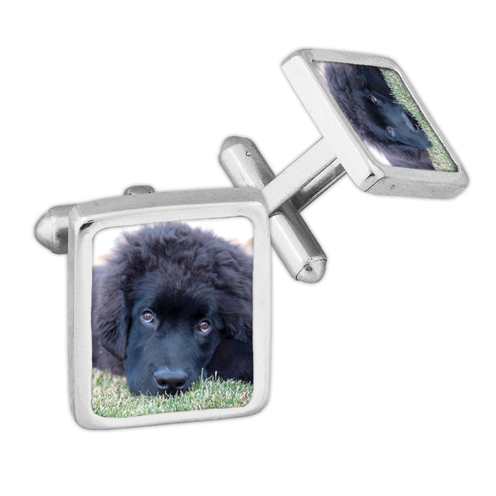 Men's Classic Rectangle Cufflinks - Sterling Silver
