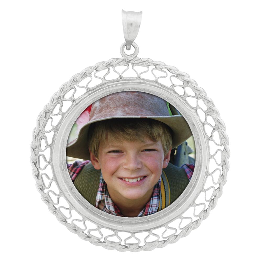 Round Filigree Pendant - Sterling Silver