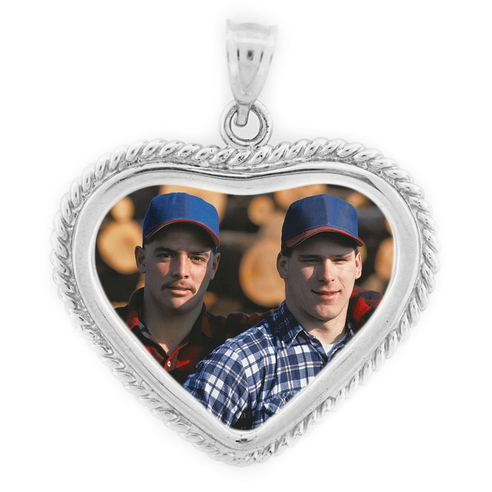 Small Heart Twist Pendant - Sterling Silver