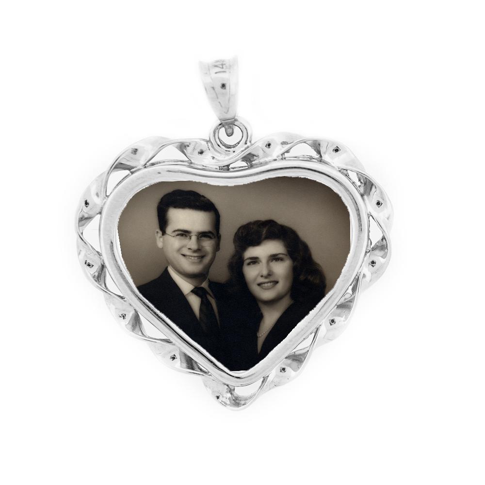 Heart Ribbon Pendant - Sterling Silver
