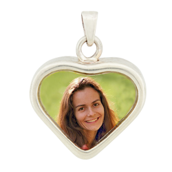 Heart Keepsake Pendant - Sterling Silver
