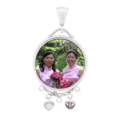 Round Mother's Pendant - Sterling Silver