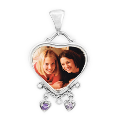 Heart Mother's Pendant - Sterling Silver