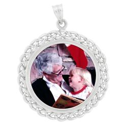 Round Braid Pendant - Sterling Silver