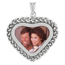 Heart Braid Pendant - Sterling Silver