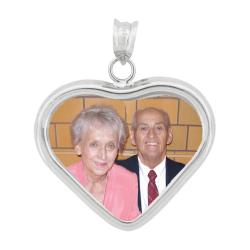 Small Popular Heart Pendant - Sterling Silver