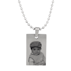 Petite Dog Tag - Stainless Steel