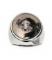 Round Signet Ring - Sterling Silver